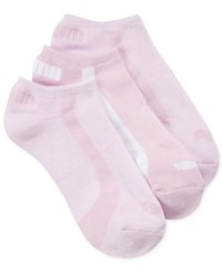 Puma Women's 3 Pk. No Show Socks Light Pastel Pink White