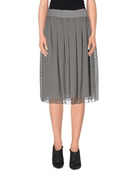 Manila Grace Denim Knee Length Skirts