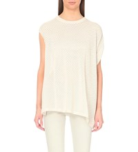 Allsaints Grid Knitted Top Almond Pink Ma