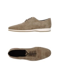 Canali Lace Up Shoes Beige