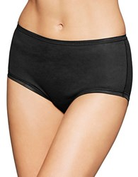 Fine Lines Pure Cotton Full Briefs Black