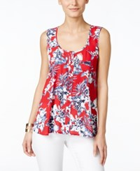 Styleandco. Style And Co. Floral Printed Tank Blouse Only At Macy's Tropical Vacation