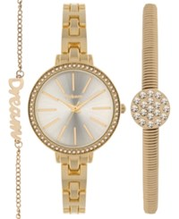 Styleandco. Style And Co. Women's Gold Tone Bracelet Watch And Bracelets Set 32Mm Sy044g Only At Macy's