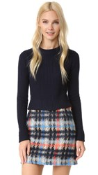 Autumn Cashmere Cropped Sweater Navy
