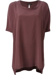 Roberto Collina Flowy Blouse Pink And Purple