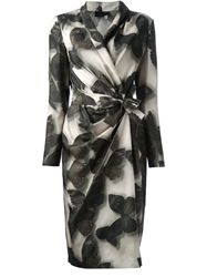 Lanvin Butterfly Print Robe Green