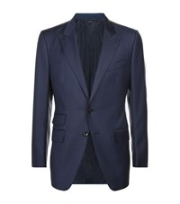 Tom Ford O'connor Sharkskin Suit Male Blue