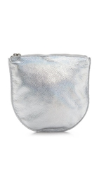 Baggu Leather Pouch Silver