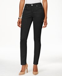 Styleandco. Style And Co. Petite Skinny Cargo Pants Only At Macy's Deep Black