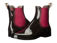 M Missoni Ankle Rain Boots Black With Red Trim Black Women's Zip Boots