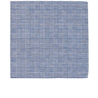 Simonnot Godard Men's Prince De Galles Pocket Square Blue
