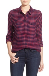 Paige 'Trudy' Check Shirt Cerise Dark Ink Blue