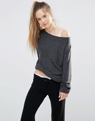 Wildfox Couture Essentials Baggy Beach Jumper Clean Black