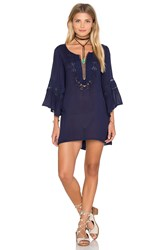 L Space Breakaway Cover Up Dress Navy