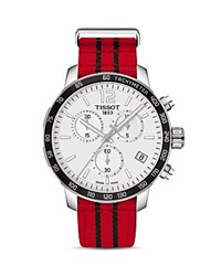 Tissot Chicago Bulls Quickster Stainless Steel Chronograph 42Mm White Red