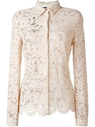 Twin Set Eyelet Lace Shirt Nude And Neutrals