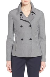 Women's Nordstrom Collection Stripe Double Breasted Jacket