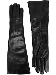 Ann Demeulemeester Classic Leather Gloves Black
