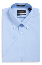 Men's Nordstrom Men's Shop Traditional Fit Non Iron Short Sleeve Dress Shirt