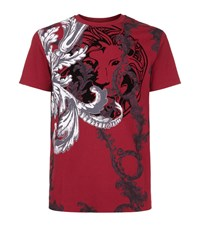 Versus By Versace Baroque Print T Shirt Male Red