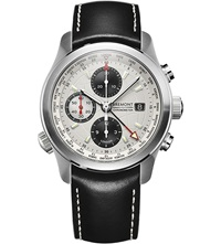 Bremont Alt1 Wt World Timer Stainelss Steel And Leather Chronograph Watch