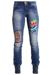 Desigual Slim Fit Jeans Bleached Denim