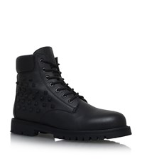 Valentino Studded Leather Combat Boots Male