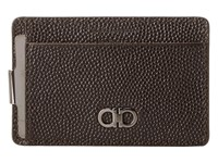 Salvatore Ferragamo Ten Forty One Card Holder 669806 Chocolate Credit Card Wallet Brown