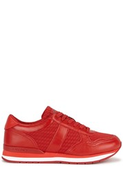 Dkny Jamie Red Leather Trainers