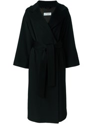 Alberto Biani Flared Longsleeved Mid Length Coat Black