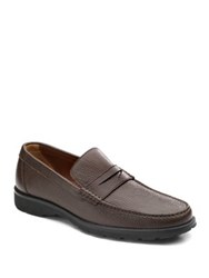 A. Testoni Casual Moccasins Medium Brown