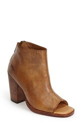 Bed Stu 'Onset' Peep Toe Bootie Women Tan Driftwood Leather