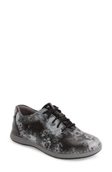 Alegria Women's By Pg Lite 'Essence' Lace Up Leather Oxford Elegance Grey Leather