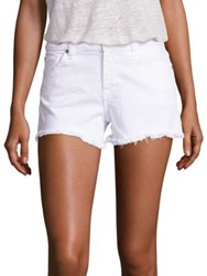 7 For All Mankind Cut Off Denim Shorts Clean White