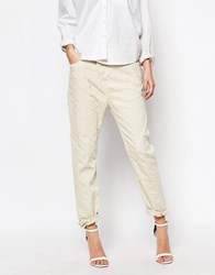 Vivienne Westwood Anglomania New Boyfriend Jeans With All Over Rips White