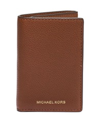 Michael Kors Leather Tri Fold Wallet Luggage