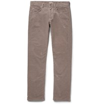 Bottega Veneta Slim Fit Stretch Cotton Corduroy Trousers Anthracite