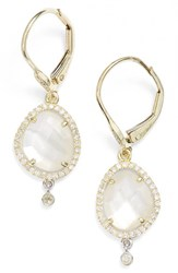 Meira T Women's Meirat Diamond And Semiprecious Stone Drop Earrings Mother Of Pearl
