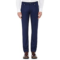 Marco Pescarolo Women's Suiting Wool Flannel Jeans Navy