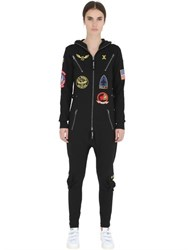 Onepiece Aviator Cotton French Terry Jumpsuit