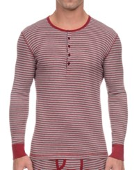 2Xist 2 X Ist Men's Essential Range Long Sleeve Henley Cranberry