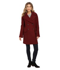 Vince Camuto Cacoon Wool Peacoat J8441 Oxblood Women's Coat Red