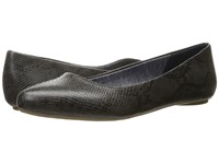 Dr. Scholl's Really Dark Grey Oppel Snake Women's Flat Shoes Black