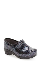 Dansko Women's 'Pro Xp' Patent Leather Clog Teal Multi Patent Leather