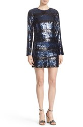 Veronica Beard Women's Avenue Sequin Stripe Minidress