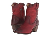 Frye Jackie Button Short Burgundy Antique Pull Up Women's Dress Pull On Boots Brown