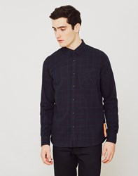 Nudie Jeans Co Henry Flannel Check Shirt Black