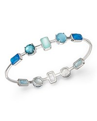 Ippolita Sterling Silver Rock Candy Wonderland 10 Stone Bangle In Blue Star Blue Silver