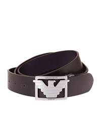 Armani Jeans Belt And Three Buckle Gift Box Unisex Black