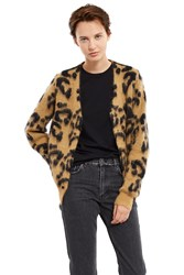 Toga Archives Mohair Leopard Print Sweater Beige